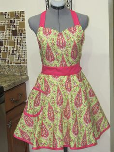Sweetheart Hostess Apron Amy Butler Love by AquamarCouture on Etsy