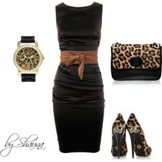 c8f9612b29 Dolce and Gabbana dress with minimal leopard accessories