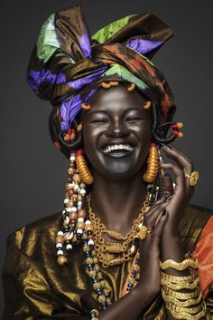 Diop Celebrates Her Nyenyo Culture In This Stunning Photo Series Photo by Joey Rosado.Photo by Joey Rosado. Black Women Art, Beautiful Black Women, Black Art, Beautiful African Women, African Beauty, African Art, African Fashion, Skin Girl, African Accessories