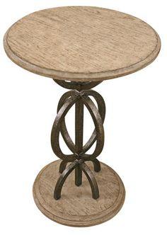 la jolla round end table - art van furniture   living rooms