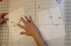 Getting the right shape for your sleeve sloper.  I combined this technique with the others on my board to get a great-fitting sleeve for my daughter's bodice sloper.
