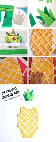 Lines Across: Handmade Pineapple Baby Costume and 88 DIY Costumes