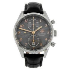 LOT:317 | TAG HEUER - a gentleman's stainless steel Carrera Calibre 16 chronograph wrist watch.