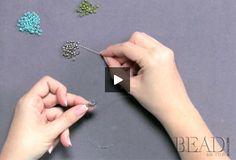 Learn basic brick stitch from BeadAndButton.com