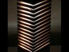 Led Desk Lamp, Table Lamp, Wood Pallets, Pallet Wood, Garage Lighting, Wood Blocks, Wood Crafts, Design Interior, Woodworking