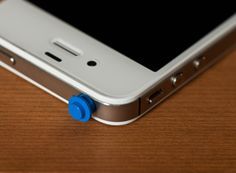Lego phone charm blue by GumbootDesigns on Etsy, $2.50