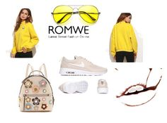 """http://www.romwe.com/Yellow-Drop-Shoulder-Embroidered-Sweatshirt-p-209664-cat-673.html?utm_source=polyvore&utm_medium=contest&url_from=polyasia12con"" by dilruha ❤ liked on Polyvore featuring Fendi"