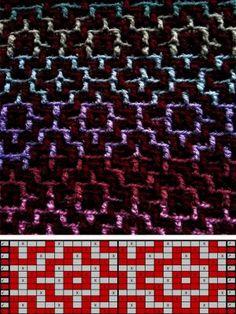 Patterns Crochet Stitches Patterns, Crochet Chart, Filet Crochet, Stitch Patterns, Knitting Patterns, Slip Stitch Knitting, Knitting Stitches, Mosaic Knitting, Knifty Knitter
