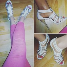 #shoes #chaussures #talons #heels #sandales #white #pink #girls #girlsday #beautiful #beauty #beaute #girls #girl #lifestyle #photos #life #photography #style #feet #mode #pieds #fashion