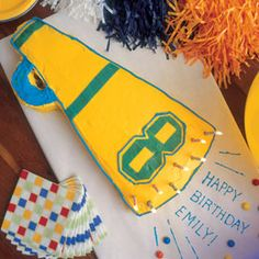 Megaphone cake- perfect for a sports or cheerleading party