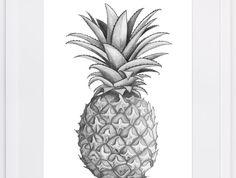 NZFINCH+A4+pineapple+digital+print+of+original+artwork