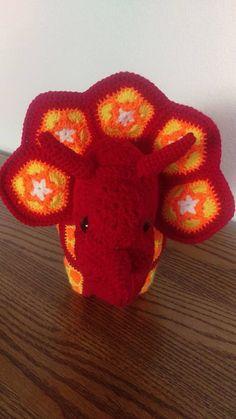 Afrikanische Blume gefüllt Tier Triceratops