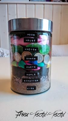 Geldgeschenk im Glas / Money gift in a jar / Upcycling