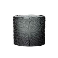 Discover the Day Birger Et Mikkelsen Handcut Flower Glassvotive - Black at Amara