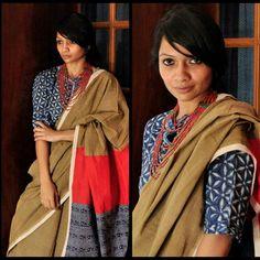 Cotton Saree Blouse, Saree Dress, Indian Fashion, Womens Fashion, Handloom Saree, Simple Style, Blouse Designs, Vogue, Saris
