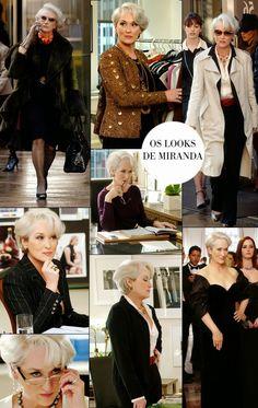 The Devil Wears Prada (O diabo veste Prada) Miranda Priestly, Devil Wears Prada, Glamour, Going Gray, Meryl Streep, Fashion Over, Old Women, Boss Lady, Ideias Fashion