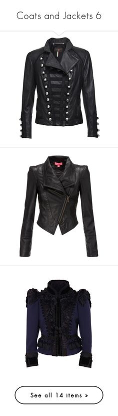 """""""Coats and Jackets 6"""" by smilie-anne ❤ liked on Polyvore featuring outerwear, jackets, coats, tops, women, leather jackets, 100 leather jacket, fitted jacket, fitted leather jacket and real leather jackets"""