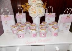 Pink ballerina birthday party favors! See more party ideas at CatchMyParty.com!