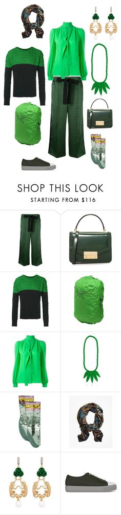 """""""state of mind"""" by emmamegan-5678 ❤ liked on Polyvore featuring Fendi, Tory Burch, Arc'teryx, Emilio Pucci, Mariah Rovery, Gucci, Brooks Brothers, Wendy Yue, SWEAR and modern"""