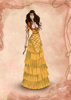 Minoan Inspired Costume by basak tinli by BasakTinli.deviantart.com on @DeviantArt