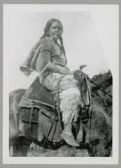 Woman in Native Dress and on Horseback, Jicarilla apache
