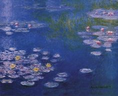 """Product ID#: 662624  Title: Waterlillies at Giverny  Artist: Claude Monet  Type: Fine-Art Print  Paper Size: 16"""" x 13"""