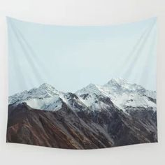 New Zealand Mountains Landscape Nature Photography Wall Tapestry