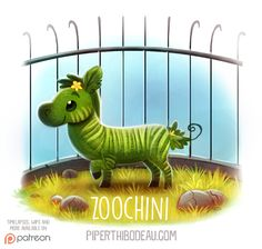 Daily+Paint+1532.+Zoochini+by+Cryptid-Creations.deviantart.com+on+@DeviantArt