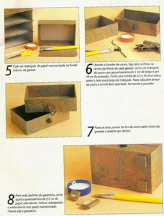 DIY : Tiroirs en cartonnage