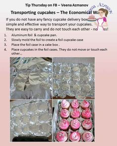 The easiest way to transport cupcakes is a cupcake box! but what if you do not have one? Here is a simple easy and economical way to transport your cupcakes