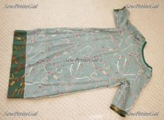 SewPetiteGal: Easy Shift Dress DIY Tutorial using my own dress as outline