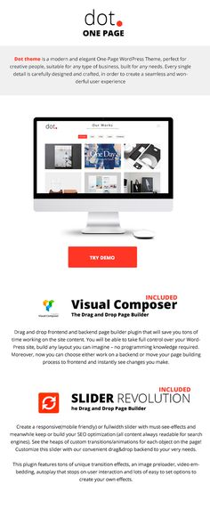 WP Theme Of the Day #191 – DOT – Clean One Page Multi-Purpose Theme