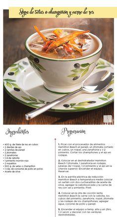 Consiente el paladar de tu familia con esta deliciosa Sopa de Champiñón con Carne de Res.   #Receta #Sopa #Liverpool