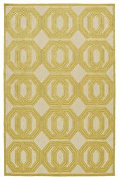 Five Seasons FSR103-05 Gold Indoor/Outdoor Rug
