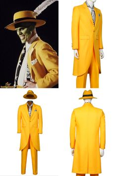 ★Type: Movie The Mask Jim Carrey Hallwoeen Cosplay Costume With Hat  ★Source: The Mask  ★Character: Stanley Ipkiss by Jim Carrey  ★Package includes: Full Set As Shown, Coat, Pants, Chest towel, Tie, Hat. Mask Not included.  ★Inventory: Made To Order Item.The tailoring time is about 7-15 days  ★Gender: Men / Male  ★Fabric: Polyester  ★Occasion: Street Wear, Role-playing, Stage, Performance, Comic-con, Halloween, Costume Party and more.  #themask #jimcarrey #halloweencostume #mencosplay