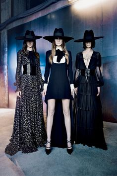 Introducing Saint Laurent. Those hats are to die for!!!