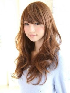 My dream hair looks like this! Japanese Hairstyle, Long Hair With Bangs, Let Your Hair Down, Salon Style, Cute Beauty, Up Girl, Curled Hairstyles, Gorgeous Hair, Hair Looks