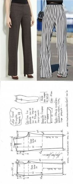 New Sewing Pants Simple Ideas Sewing Pants, Sewing Clothes, Dress Sewing Patterns, Clothing Patterns, Pants Pattern, Diy Clothing, Sewing Techniques, Sewing Tutorials, Sewing Ideas