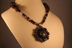 Amethyst concho with pistols necklace by LostCoastArts on Etsy, $80.00