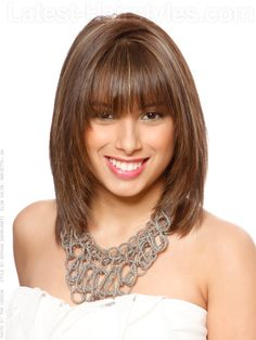 Medium Hairstyles with Bangs for Women Over 40 with Fine Hair | back-stylish-medium-length-with-bangs.jpg