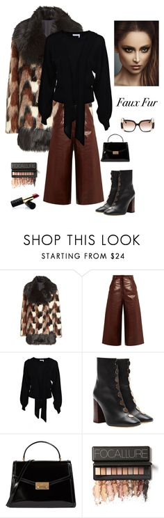 """""""Faux Fur Elegance"""" by kotnourka ❤ liked on Polyvore featuring Marc Jacobs, BY. Bonnie Young, Chloé, E L L E R Y, Tory Burch and Louis Vuitton"""