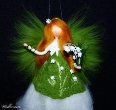 Jahreszeitentisch - ❀ Maiglöckchen Fee ❀ Märchenwolle Fee - ein Designerstück von annas-wollwesen bei DaWanda