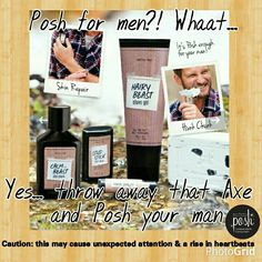 Perfectly posh Men's line Like what you see? Visit my website for more product information and pricing: www.iPoshwithCarolyn.com All items are less than $25; all shipping no matter how big or small $5; buy 5 get the 6th FREE