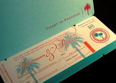 I love this boarding pass idea for a destination wedding, just need to find someone to recreate this in NZ, or a great overseas stockist
