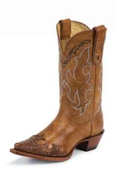 These would look so cute with a denim skirt! Tony Lama Tan Santa Fe Cowgirl Boots from Head West Outfitters