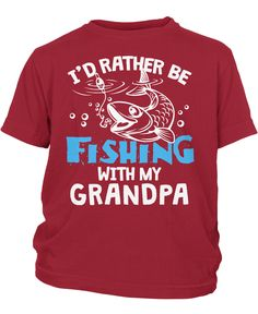 I'd rather be fishing with Grandpa - Children's T-Shirt
