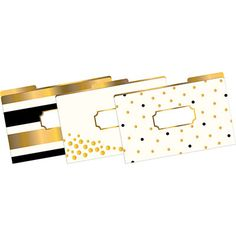 Barker Creek Legal Size, Gold File Folders BKR2503L
