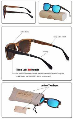 c23b72aa46b Acetate Temple Wood Frame Eyewear UV400 polarized Wooden Sunglasses 2018