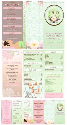Beautiful Spa Brochure Design, Cosmetic brochure design