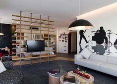 wood frame room divider